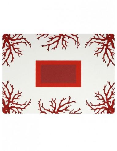 2 Masonite Trivets Corals - Bordeaux by Cecilia Bussani Florence