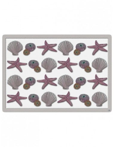 2 Masonite Trivets Marine Subjects - Grey and Pink by Cecilia Bussani Florence