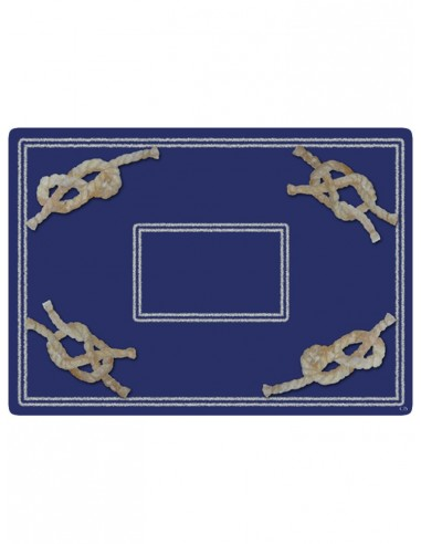 2 Masonite Trivets Nodes - Blue by Cecilia Bussani Florence