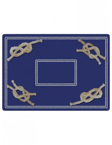 2 Sottopentola Masonite Nodi - Blu di Cecilia Bussani Firenze