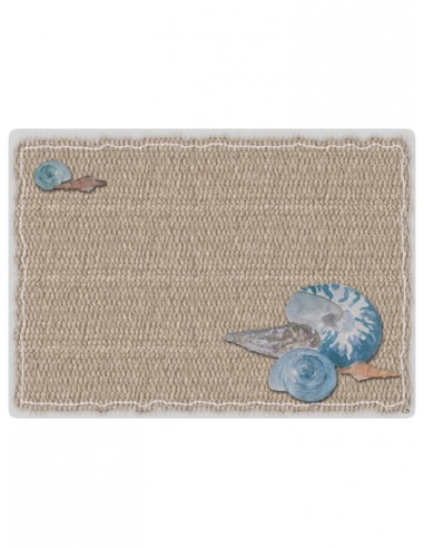 2 Masonite Trivets Shells - Beige by Cecilia Bussani Florence