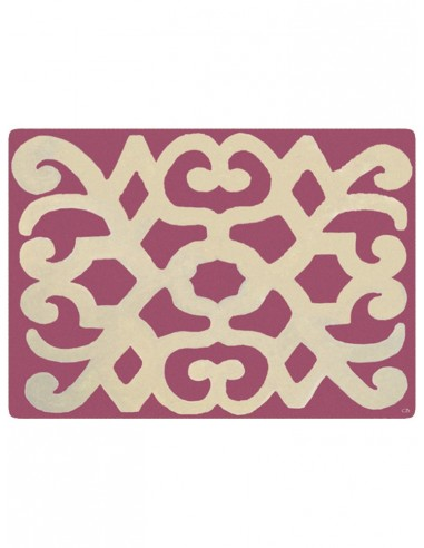 Masonite Placemat Turkey - Antique Pink and Beige by Cecilia Bussani Florence