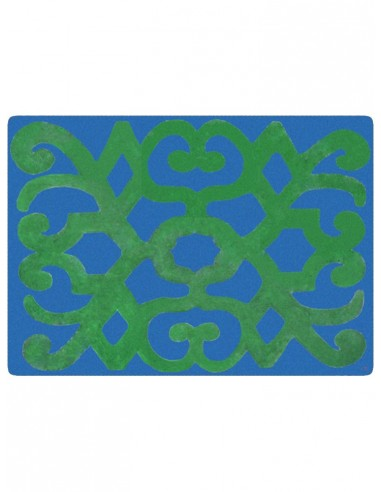 2 Masonite Trivets Turkey - Blue and Green by Cecilia Bussani Florence