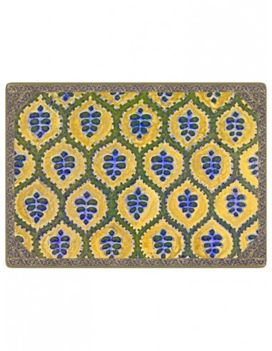 Masonite Placemat Ethnic - Green and Yellow by Cecilia Bussani Florence