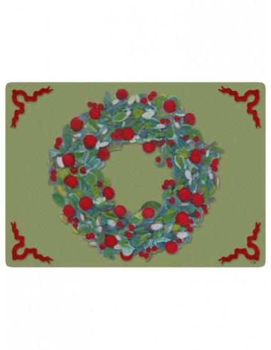 Masonite Placemat Garland by Cecilia Bussani Florence