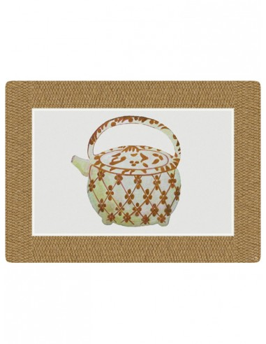 Masonite Placemat Large Teapot - Mustardby Cecilia Bussani Florence