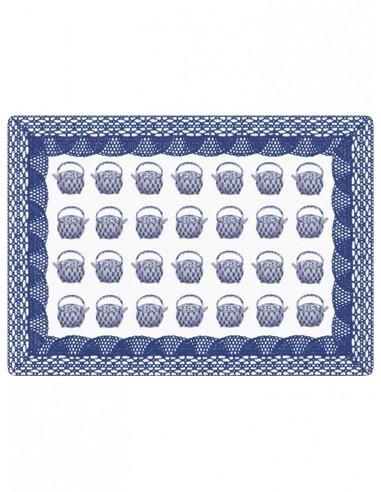 Tovaglietta Masonite Teiere Piccole - Blu di Cecilia Bussani Firenze