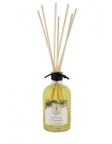 Fragranza Arancio e Cannella 250 ml con bastoncini di Antica Spezieria Erboristeria San Simone Firenze 1