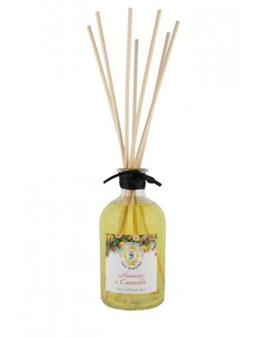 Room Fragrance Orange and Cinnamon 250 ml with sticks by Antica Erboristeria San Simone Florence Italy 1