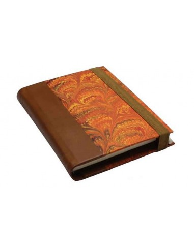 """Orange Marbled Notebook by """"Il Torchio """" Florence"""