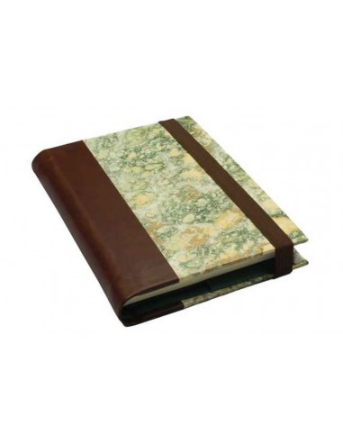 """Green Marbled Notebook by """"Il Torchio"""" Florence"""