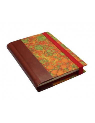 """Red Marbled Notebook by """"Il Torchio"""" Florence"""