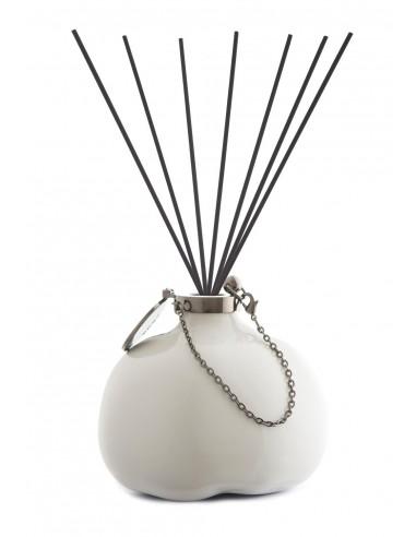 Fragranza d'Ambiente Fashion - Bianco Rutenio con Bastoncini in fibra di Maya Design Italia 1