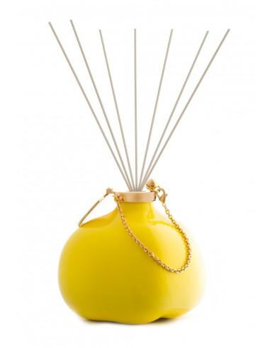 Fragranza d'Ambiente Fashion - Giallo Limone con Bastoncini in fibra di Maya Design Italia 1