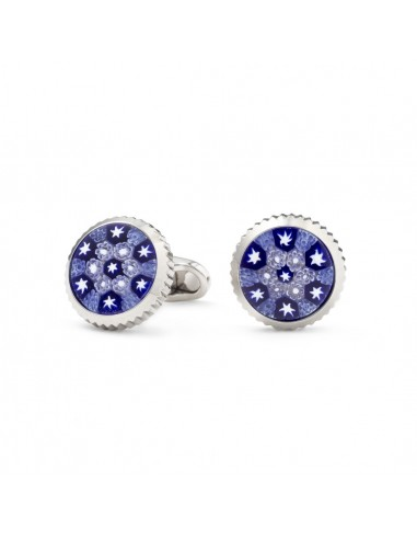 Murano cufflinks with worked edge by Mon Art Florence