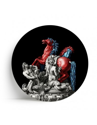 "Plate Big One Collection ""Sun Horses and Tritons"" by Tondo Fiorentino"