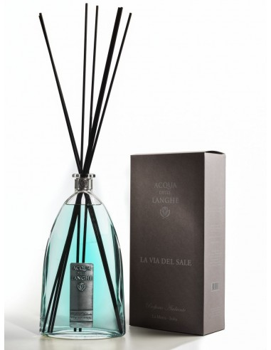 Room Fragrance La via del Sale 500 ml with sticks by Acqua delle Langhe Italy