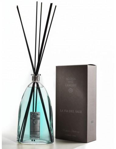 Room Fragrance La via del Sale 1500 ml with sticks by Acqua delle Langhe Italy