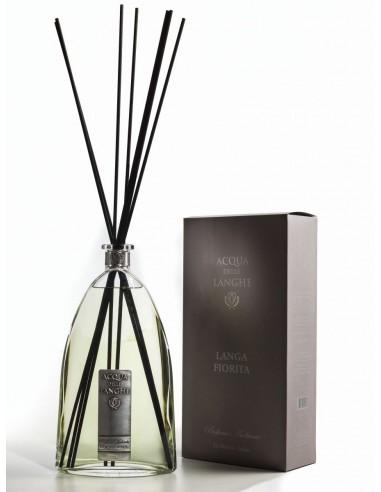 Room Fragrance Langa Fiorita 500 ml with sticks by Acqua delle Langhe Italy