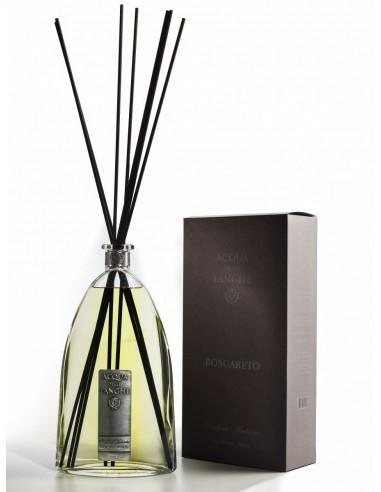 Room Fragrance Boscareto with sticks by Acqua delle Langhe Italy