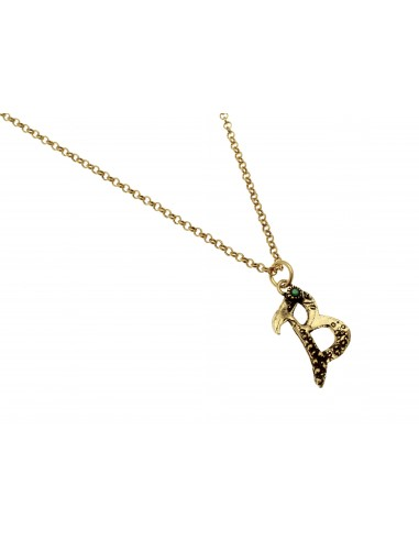Small Letter B Necklace by Alcozer & J Florence