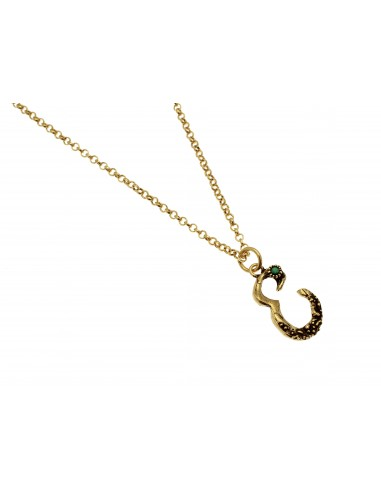 Small Letter E Necklace by Alcozer & J Florence