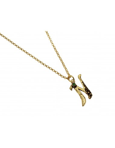 Small Letter N Necklace by Alcozer & J Florence