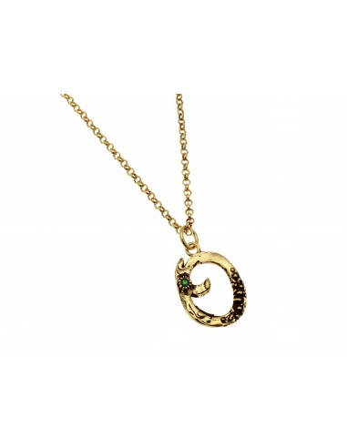 Small Letter O Necklace by Alcozer & J Florence
