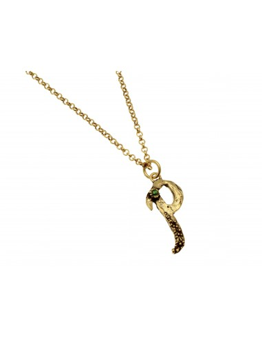 Small Letter P Necklace by Alcozer & J Florence