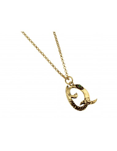 Small Letter Q Necklace by Alcozer & J Florence