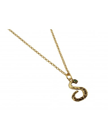 Small Letter S Necklace by Alcozer & J Florence