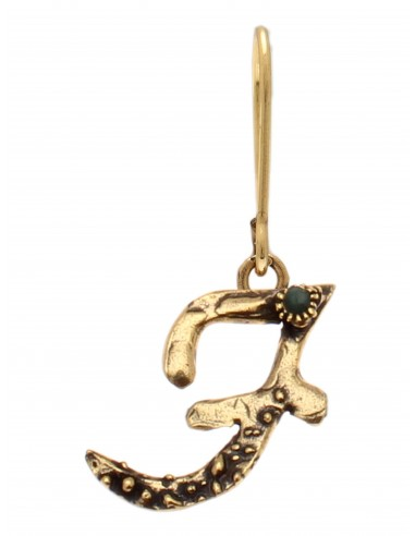 Letter F Earring by Alcozer & J Florence