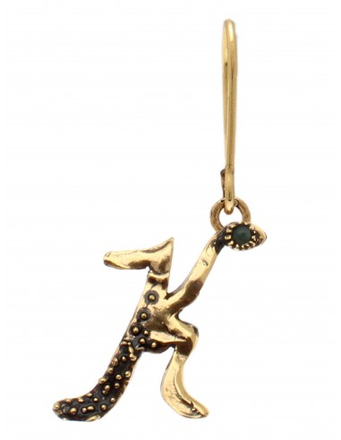 Letter K Earring by Alcozer & J Florence