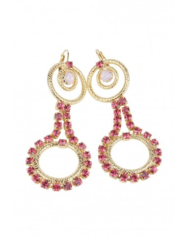 Circle Delight Earrings - Opal/Pink by Monnaluna Florence Italy