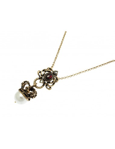 Crown with Pearl Necklace by Alcozer & J Florence