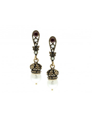 Crown with Pearl Earrings by Alcozer & J Florence