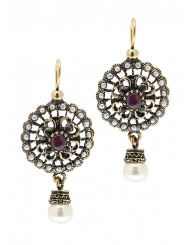 Rose Window Earrings by Alcozer & J Florence
