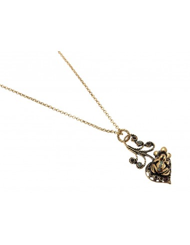 Frog and Flower Necklace by Alcozer & J Florence