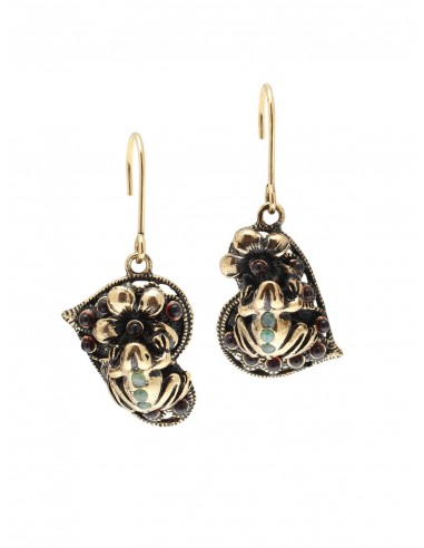 Frog and Flower Earrings by Alcozer & J Florence