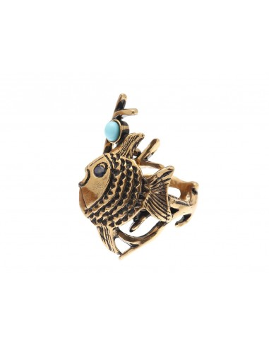 Blue Fish Ring by Alcozer & J Florence