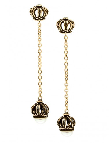Two Crown Earrings by Alcozer & J Florence