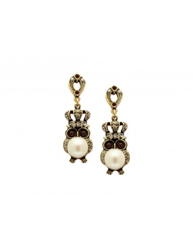 Crowned Owls Earrings by Alcozer & J Florence