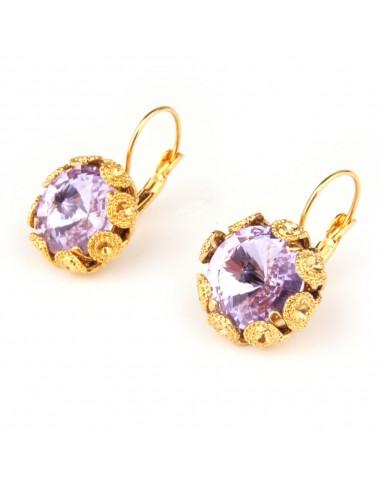 Orecchini Violet realizzati da Monnaluna Firenze